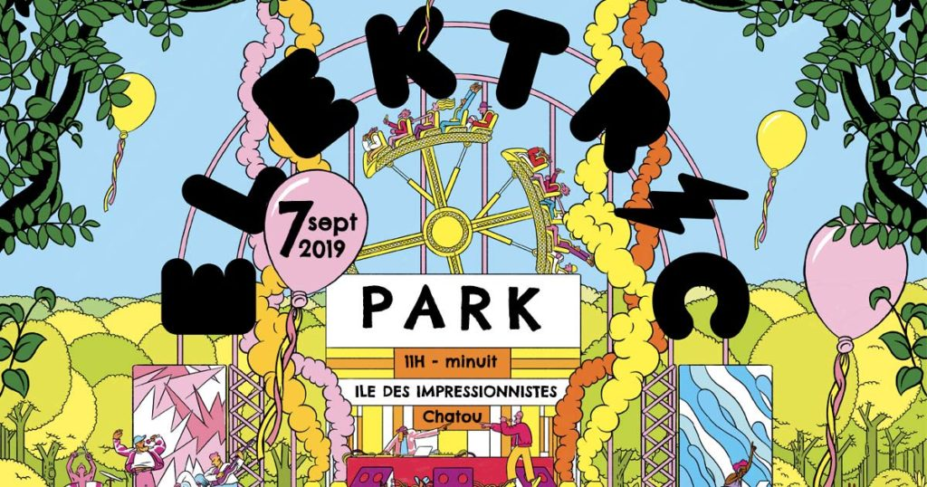 L'affiche pour les 10 ans de l'Elektric Park
